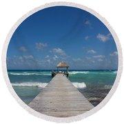Caribbean Landing Round Beach Towel