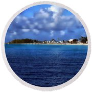 Caribbean Sea And Beach Round Beach Towel