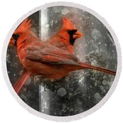 Cary Carolina Cardinals  Round Beach Towel
