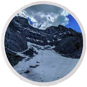 Cascade Mountain Round Beach Towel