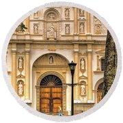 Catedral Antigua Guatemala - Guatemala Vii Round Beach Towel