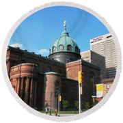 Cathedral Basilica Of Saints Peter And Paul Philadelphia Round Beach Towel