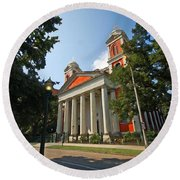 Cathedral Basilica Of The Immaculate Conception Round Beach Towel