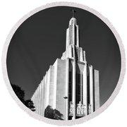 Cathedral Of Saint Joseph Round Beach Towel