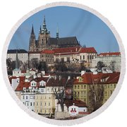 Cathedral Of St Vitus Round Beach Towel by Michal Boubin