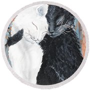 Cats  In Love Round Beach Towel