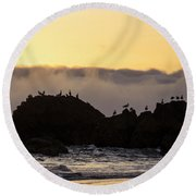 Caught In The Light Round Beach Towel