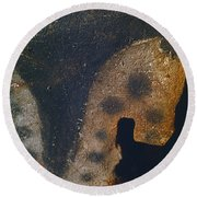 Cave Art: Horse Round Beach Towel