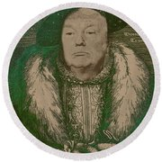 Celebrity Etchings - Donald Trump Round Beach Towel