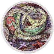 Celtic Layers Round Beach Towel