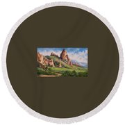 Central Oregon Round Beach Towel