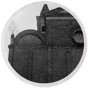 Cesena - Italy - The Cathedral  Round Beach Towel