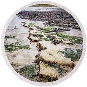 Chalk Cliff Round Beach Towel