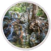Chantara Waterfalls - Cyprus Round Beach Towel