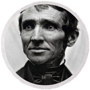 Charles Goodyear, American Inventor Round Beach Towel