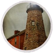 Charlotte Genesee Lighthouse Round Beach Towel