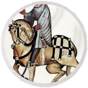 Chaucer: Canterbury Tales Round Beach Towel