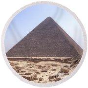 Cheops Pyramid - Egypt Round Beach Towel