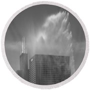 Chicago - Buckingham Fountain Round Beach Towel