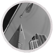 Chicago Cityscape Round Beach Towel