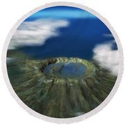 Chicxulub Crater, Illustration Round Beach Towel