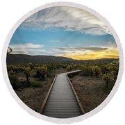 Cholla Cactus Garden, Joshua Tree National Park, Ca Round Beach Towel