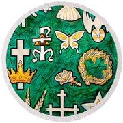 Chrismons Round Beach Towel