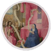 Christ Appearing To The Virgin Round Beach Towel