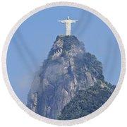 Christ The Redeemer, Rio De Janeiro Round Beach Towel