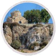 Church Of Profitis Elias - Cyprus Round Beach Towel
