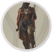 Cigar Store Indian Round Beach Towel