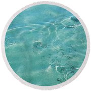 Circles On The Water Round Beach Towel