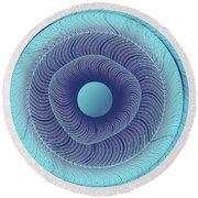 Circular Abstract Art Round Beach Towel