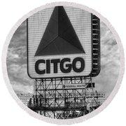 Citgo Sign Kenmore Square Boston Round Beach Towel