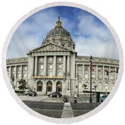 City Hall Round Beach Towel by Nancy Ingersoll