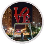 City Of Brotherly Love Round Beach Towel