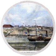 Civil War: Union Steamer Round Beach Towel
