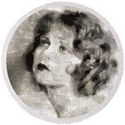 Clara Bow Vintage Hollywood Actress Round Beach Towel