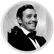 Clark Gable As Rhett Butler Gone With The Wind 1939-2015 Round Beach Towel
