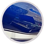 Classic Car Reflection Round Beach Towel