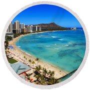 Classic Waikiki Round Beach Towel