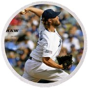 Clayton Kershaw, Los Angeles Dodgers Round Beach Towel