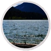 Clear Lake Washington Round Beach Towel