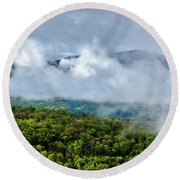 Clearing Storm West Virginia Highlands Round Beach Towel