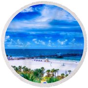 Clearwater Beach, Florida Round Beach Towel