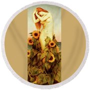 Clytie Round Beach Towel