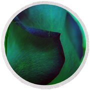Coated In Envy Round Beach Towel