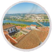 Coimbra Aerial View Round Beach Towel
