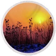 Cold Silence Round Beach Towel