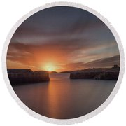 Coliemore Harbour Round Beach Towel